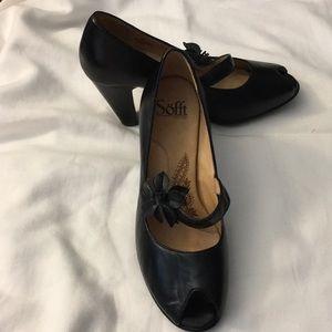 Sofft black peep toe pumps